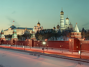 The Moscow Kremlin in the winter
